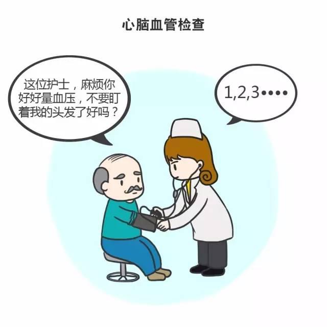 【体检漫画】中老年人必查的体检项目大全,转给家人